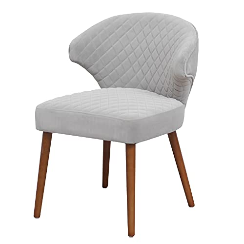 Esszimmer Stuhl von Kastellan | Levin Design | Stuhl Vintage | Grau Samt | Stuhl für Küche, Wohnzimmer und Esszimmer | 50er 60er Retro Vintage Sitzbank