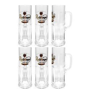Radeberger Pilsener Bierglas Krug Glas Gläser-Set - 6x Bierhumpen Krüge mit Henkel 0,3l geeicht