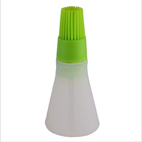 1 Pz Portatile Bottiglia di Olio In Silicone Con Pennello Grill Olio Spazzole Liquido Olio Pasticceria Cucina Utensili Da Cucina per BBQ