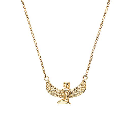 NOELANI Cleopatra Women's Necklace with Pendant 925 Sterling Silver Gold-Plated