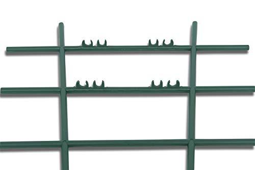 Windhager Blumenstütze Rankhilfe Gitterspalier Rankgitter, Kunststoff, gerade, Grün, 43 x 23 cm - 4