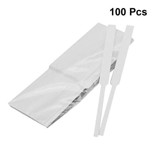 SUPVOX Parfüm-Teststreifen, Einweg-Papier für Parfüm, 100 Stück
