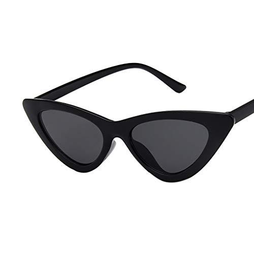 Occhiali da Sole Moda a Gatto Ragazza Occhiali Da Sole Da Donna Vintage Cat Eye con Protezione UV Retro Vintage Stile