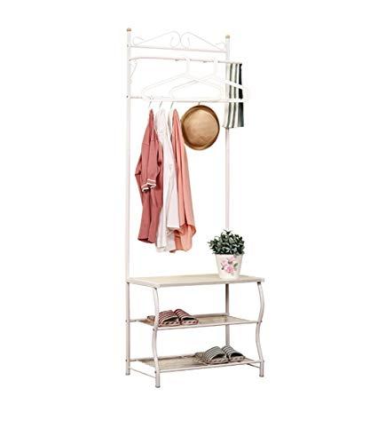 Kapstok Staande Kapstok Kleding Hat Stand Shelf Hanger Staal, Wit, 2 maten beschikbaar Multi-Purpose hangers (Size : 60 * 36 * 175CM)