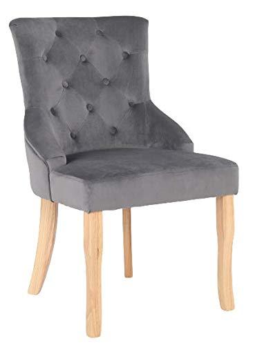Millhouse Accent Chair Dining Chair for Home & Commercial Restaurants X7001 (Velvet Dark Grey, 1)