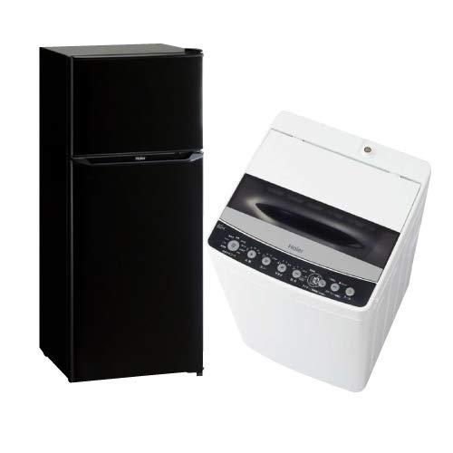 新生活 一人暮らし 家電セット 冷蔵庫 洗濯機 2点セット 新品 ハイアール 2ドア冷蔵庫 ブラック色 130L 全自動洗濯機 洗濯4.5kg JR-N130A+JW-C45D-K