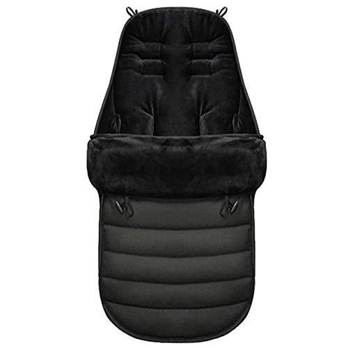 A prueba de viento cálido invierno cochecito de bebé saco para pies cubierta del empavesado saco de dormir manta para niños pequeños accesorios para cochecitos - negro 1 tamaño