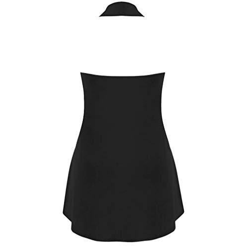 Topkal Top Mujer Verano Otoño Casual Blusa Camisa Fashion Brief Patchwork Sexy Tops Negro  XXXL