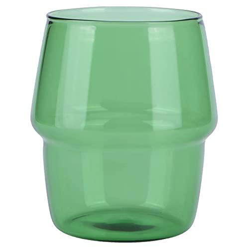 Taza de hogar, fácil de Vidrio Material Exquisito Apariencia Copa de Vidrio para el hogar (Verde) Taza Cafe (Color : Green)