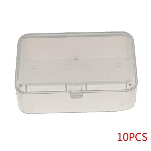 Floridivy 10st Multifunctionele rechthoekige doorzichtige plastic doos plastic doos, mini sieraden doos, transparante Parts Tool Cover Storage Case Container