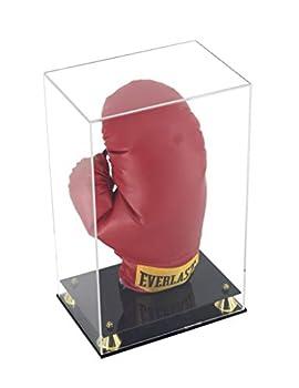 Boxing Glove Display Case Holder Showcase for Boxing Gloves UV Protection Elegant Riser Stand  Vertical