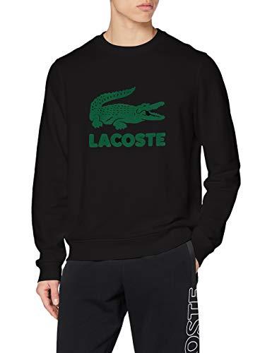 Lacoste Herren Sh2167 Pullover, Black, 4