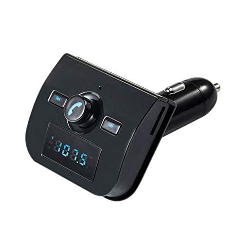 MagiDeal Transmetteur FM Bluetooth Adaptateur Autoradio Ècran LED Connecteur Ligne Intégré