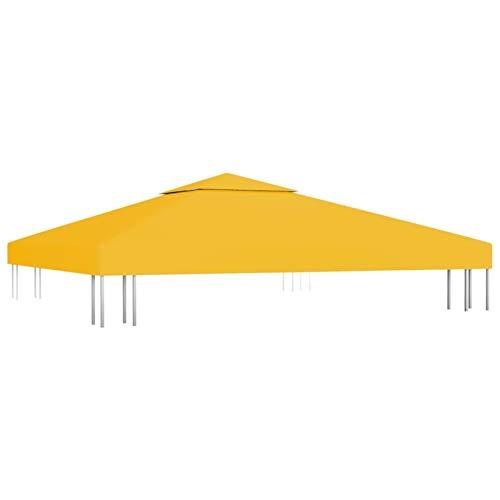 Tidyard Copertura Superiore per Gazebo 3x3 m,Ricambio Copertura Gazebo,Telo Impermeabile Ricambio per Gazebo 310 g/m² Colore Giallo