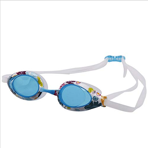 MHP Schwimmbrille männer und Frauen flach licht wasserdicht Anti-Fog Mode Farbe blumenkasten silikon Schwimmbrille, blau 1
