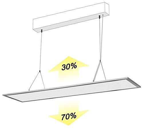 LECOM LED Panel 120x30 120x20 32W Deckenleuchte mit Befestigung Direkt 70%/ Indirekt 30% DIMMBAR Auswahl der Lichttemperatur UGR<19 CRI:>90 mit Fernbedienung Original Deckenmontage