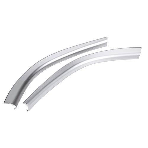 Dibiao Un par de plata central central Control lateral Adornos laterales adhesivo decorativo para Auto Mercedes A W176 CLA C117 GLA X156