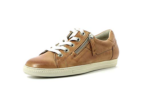 Paul Green Damen Sneaker 4940, Frauen Low-Top Sneaker, schnürer schnürschuh sportschuh weibliche Ladies feminin elegant Women,Cuoio,39 EU / 6 UK