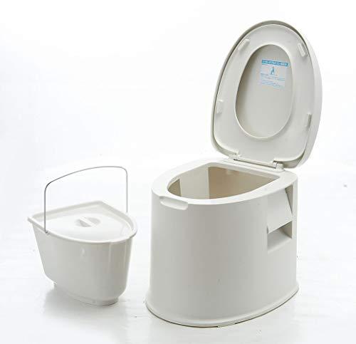 Thole Inodoro Portátil Químico Baño WC Móvil Tapa para Camping Viaje Ancianos...