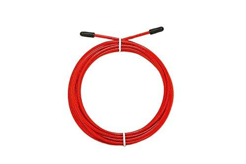 AMRAP Ersatzlitze/Ersatzkabel/Ersatz Seil für Speedropes und Springseile wie Bearing Pro & Solid| Länge verstellbar | Für Männer, Frauen und Kinder 3m Länge (Rot)