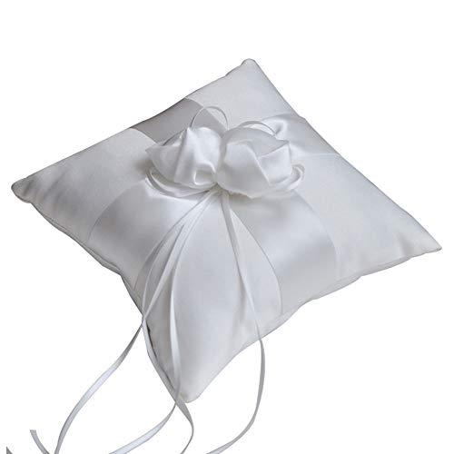 Cuscino Per Fedi Matrimonio Bianco Cuscino Per Fedi Nuziali Bianco Con Nastro Di Raso Cuscino Per Fedi Nuziali Con Nastro Di Raso Cuscino Per Fedi Bowknot Mini Cuscino Per Matrimoni In Spiaggia