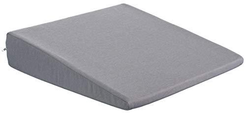 Seduta cuneo Cuscino sedia auto cuscino di seduta sedia da ufficio cuscino–Dimensioni: 35cm x 35cm X 6/1cm, cotone, antracite/grigio, 38 cm x 38 x 8/2 cm