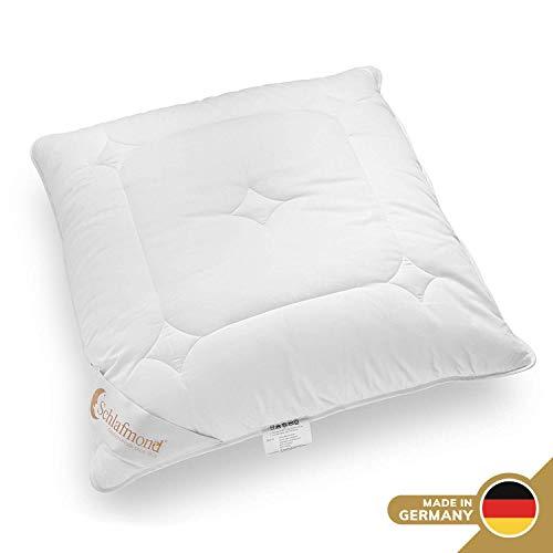 Schlafmond Märchenweich Kopfkissen 80 x 80 cm, Kissen aus Naturfasern mit Reißverschluss und anpassbarer Füllmenge, waschbar bis 60 Grad, Made in Germany