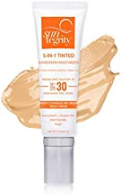 Suntegrity Tinted 5 in 1 Mineral Sunscreen for Face (SPF 30 - 2 oz) - Golden Light | Natural BB Cream Moisturizer with Physical UVA/UVB Broad Spectrum Protection | Safe for Sensitive Skin