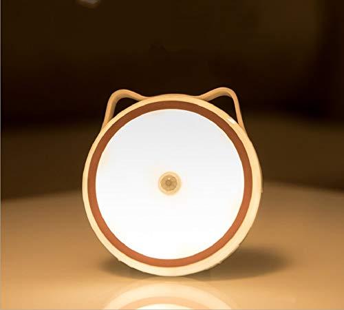 FemKey Luz de Noche, Luz Nocturna con Sensor LED, Luz Nocturna Recargable USB con Función de Adsorción de Imán, Se Puede Utilizar en Dormitorio, Mesita de Noche, Armario, Pasillo.