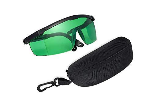 ALPHATEC LED Grow Light Brille für Farbkorrektur und Sicherheit, LED Light Eye Protection für Hydroponik in Innenräumen, Gärten, Gewächshäuser, UV-Schutzbrillen, IR-Strahlen, Brillenetui inklusive