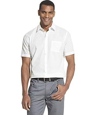 Van Heusen Men's Air Short Sleeve Button Down Solid Shirt