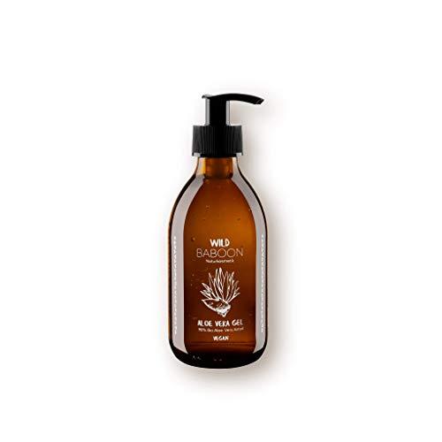 Aloe Vera Gel 100 prozent BIO für Haut und Haare, vegane Naturkosmetik aus Deutschland, 250 ml, reine Formel frei von Alkohol, Ölen oder Parfüm
