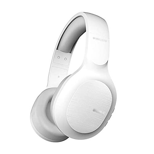Pkfinrd Auriculares de Juego Bluetooth sobre Auriculares de la Oreja CVC Cancelación de Ruido Cancelación incorporada Mic 72 Horas Playtime con Modo cableado para Viajes/Auriculares de Trabajo