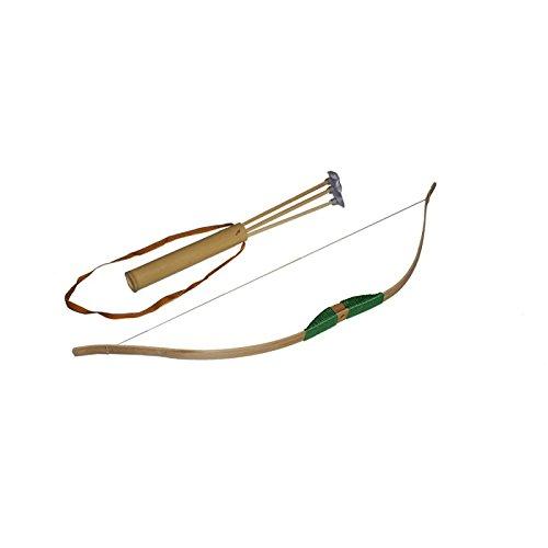 Juguetutto -Arco grande, in legno, con frecce con punta a ventosa, colore: verde