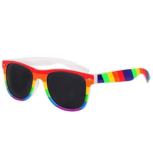 I LOVE FANCY DRESS LTD Gafas DE Sol con Montura Arcoiris - Gafas DE Sol DE Color Arco Iris para Adultos para Accesorios DE Disfraz Pride