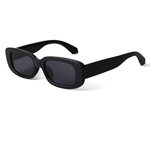 AugSep Gafas de sol rectangulares para mujer, estilo retro, estrecho, marco de tortuga, AG-UK-A202112708