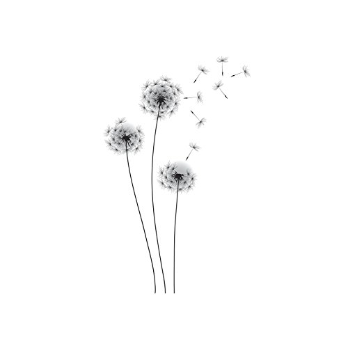 RoomMates RMK2606GM Whimsical Dandelion Peel and Stick Giant Wall Decals