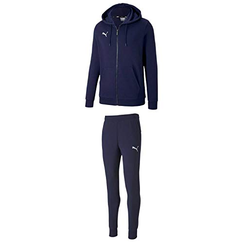 PUMA Kinder Trainingsanzug teamGOAL 23 Casuals Sweat Suit 656714+656713 Peacoat 176