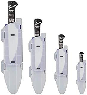 "KnifeSafe original knife blade protective cover edge guard Transparent White 4pc set (4""+6""+8""+10"")"