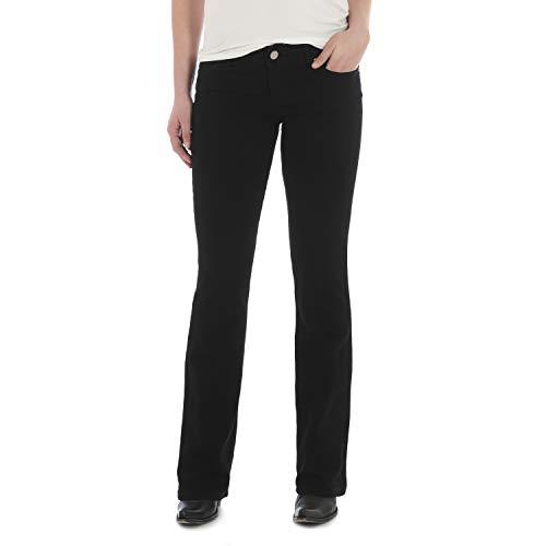 Wrangler Women's Western Mid Rise Stretch Boot Cut Jean, Black, 9x30