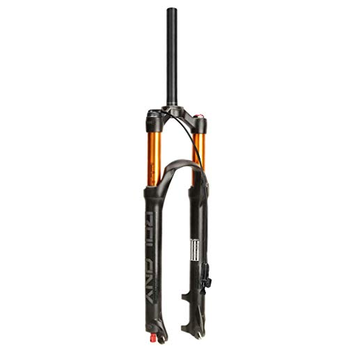 ALBN Horquilla de Aire para Bicicleta de montaña MTB 26/27.5/29 Pulgadas, 1-1/8 Recorrido Recto 120 mm Horquillas de suspensión MTB ultraligeras de 9 mm