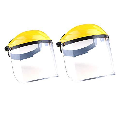 Helmet Casco de Soldadura, Protector Facial, Lente Transparente QIND antiUV antigolpes, máscara de Seguridad a Prueba de Salpicaduras Resistente a Altas Temperaturas protección de Ojos