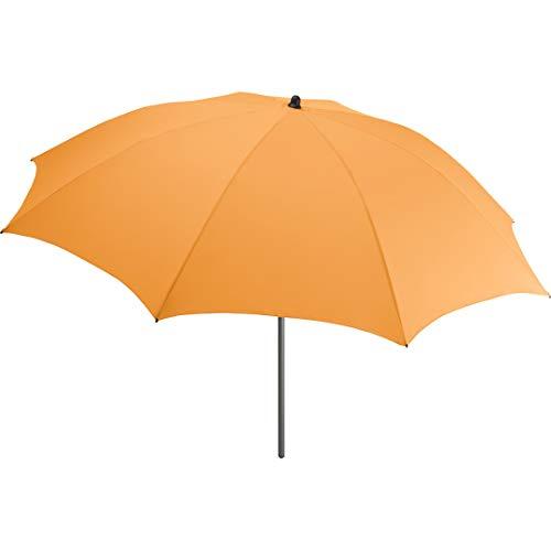 FARE Sonnenschirm Modern Gr. M - 177cm Durchmesser - UV-Schutz 50+ für Balkon Garten Terrasse Sommer - Titan-Finish inkl. Drehfeststeller Sicherheitsschieber Tragetasche (Aprikose)