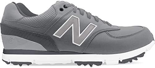 New Balance NBG574 Herren Golfschuh mit Spikes, Grau (Graukohle), 48 EU