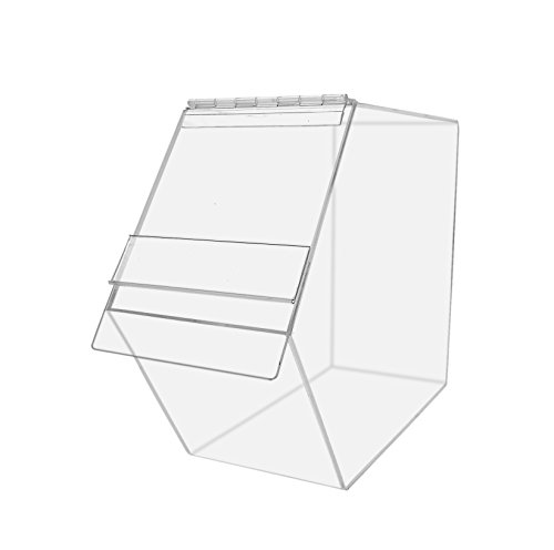 Marketing Holders Food Storage Dispenser Pack of 2 Bread Bagel Candy Box Toys Snacks Tabletop Bakery Countertop Merchandise Multipurpose Product Display Crafts Kitchen Pantry Trinket Bin