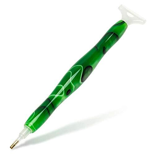 Pittura Trapano Penna, Strumento di Disegno Diamante Punta Trapano Penna Pittura A Mano in Resina Penna Diamante per 5D Pittura Diamanti Accessori (Verde)