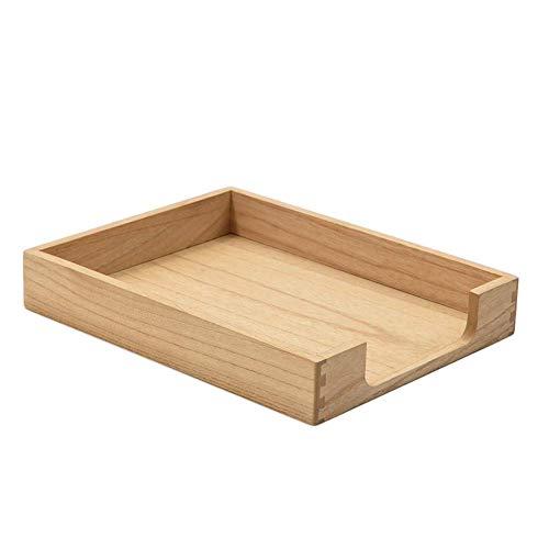 Bandeja para cartas de madera de un solo nivel Colección de tonos de madera Bandeja para documentos Organizador de escritorio Revista Carpeta de papel