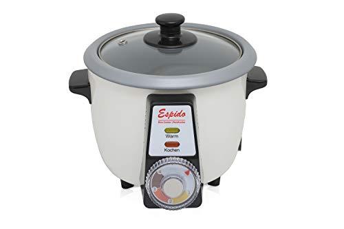 Reiskocher mit Tahdig,Reiskuchen,Tadig Funktion für 2 bis 3 Personen, Warmhalter, 0.6 Liter, 300W,Reiskruste