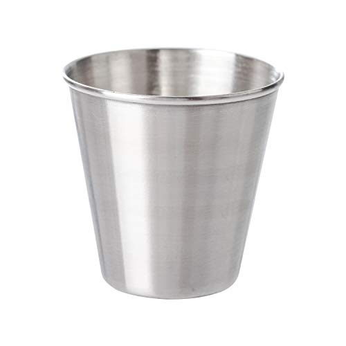Thirsty Rhino Stainless Steel Shot Glass Condiment Sauce Dressing Cup 2 Ounce Set of 1