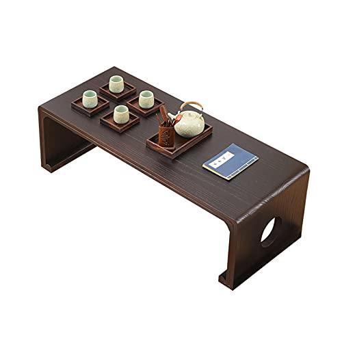 Home-table Tavolini da caffè in Legno Massello da 60 Cm, Rettangolo Durevole Tavolino Basso Balcone Salotto Tavolo da Pranzo Tavolo da Pranzo Studente Spogliatoio(Size:60 * 40 * 30CM,Color:#1)